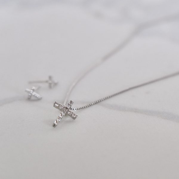 cz cross necklace gift