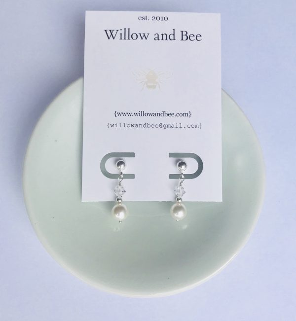 real pearl first communion earrings
