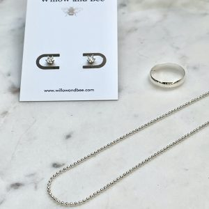 Minimal jewelry sterling silver